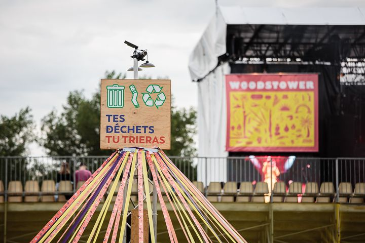 Le tri des déchets est effectué sur le site du festival. (Woodstower)