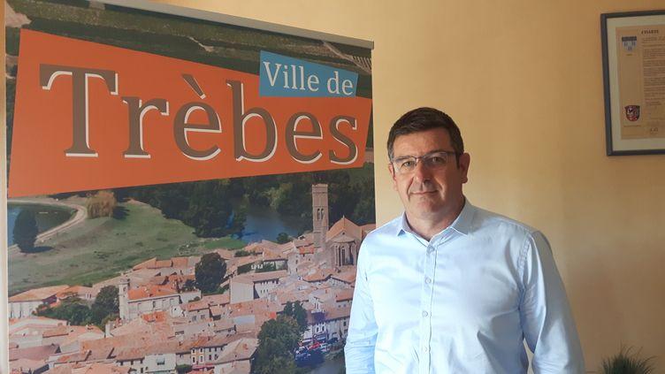 Eric Menassi, maire de Trèbes (Aude). (SEBASTIEN BAER / RADIO FRANCE)