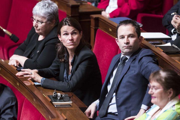Aurélie Filippetti et Benoît Hamon, le 24 mai 2016, à l'Assemblée nationale. (MAXPPP)