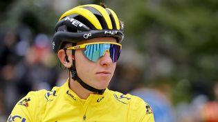 Tadej Pogacar a remporté son deuxième Tour de France à 22 ans. (THOMAS SAMSON / AFP)