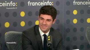 Le député Les Républicains du Lot Aurélien Pradié était l'invité de franceinfo jeudi 20 décembre 2018. (FRANCEINFO)