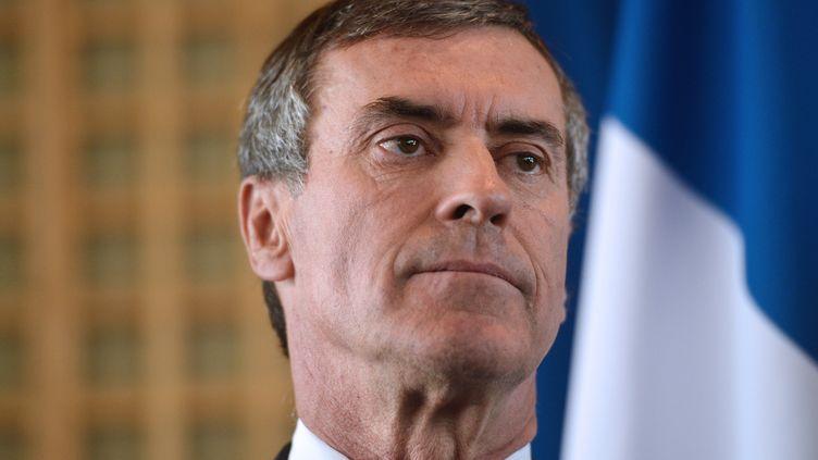Jérôme Cahuzacaprès sa démission, au ministère de l'Economie et des Finances, à Paris, le 20 mars 2013. (MIGUEL MEDINA / AFP)