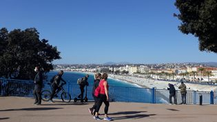 Premier week end de vacances pour Nice et la zone B avec la menace de nouvelles restrictions sanitaires, dimanche 21 février 2021. (B. ROMANKIEWICZ / MAXPPP)