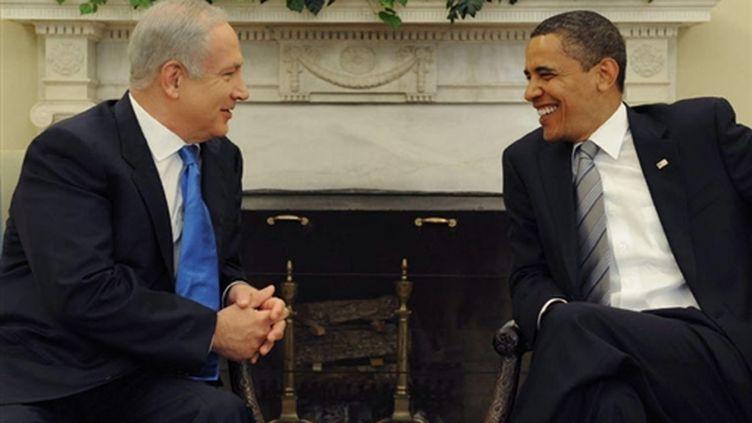 Rencontre le 18 mai 09 entre Barack Obama et Netanyahu (AFP)