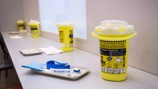 """La premiere salle de consommation de drogue à moindre risque, dite """"salle de shoot """" ouvre lundi 17 octobre à l'hôpital Lariboisièredans le Xe arrondissement de Paris (LEON TANGUY / MAXPPP)"""