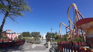 Le parc Astérix à Plailly (Oise), le 4 juin 2021, cinq jours avant sa réouverture au public. (MARINE CHAILLOUX / FRANCE-BLEU PICARDIE)