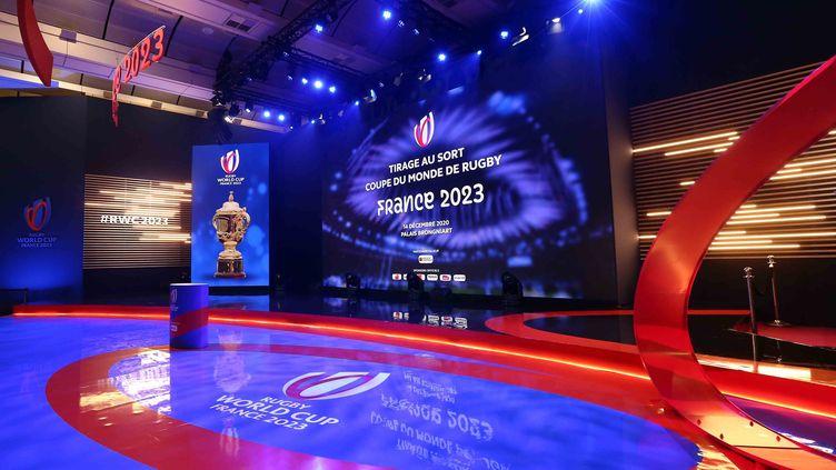 Le trophée Webb-Ellis, offert au vainqueur de la Coupe du monde de rugby (AURELIEN MEUNIER / WORLD RUGBY)