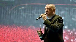 Le président turc Recep Tayyip Erdogan à Istanbul, le 15 juillet 2018. (OZAN KOSE / AFP)