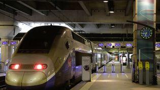 Un TGV à la gare Montparnasse, le 8 avril 2018, à Paris. (THOMAS SAMSON / AFP)
