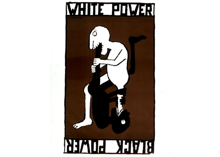 Affiche Black Power/White Power, Tomi Ungerer, 1967 (United States Washington. Library of Congress Archives Snark)  (Archives Snark / Photo12 / AFP)