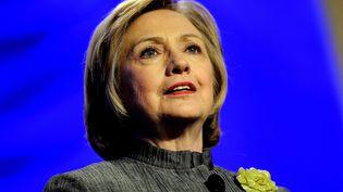 L'ex-secrétaire d'Etat américaine Hillary Clinton participe à une conférence dans le Maryland (Etats-Unis), le 6 mai 2014. (PATRICK SMITH / GETTY IMAGES NORTH AMERICA / AFP)