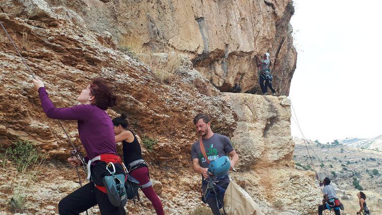 Plusieurs sites et deux salles ont été équipés pour la grimpe à Ramallah et Bethlehem. Un club organise régulièrement des sorties de groupe. (ETIENNE MONIN / RADIO FRANCE)