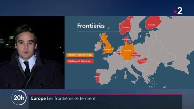 Covid-19 : les pays européens ferment peu à peu leurs frontières