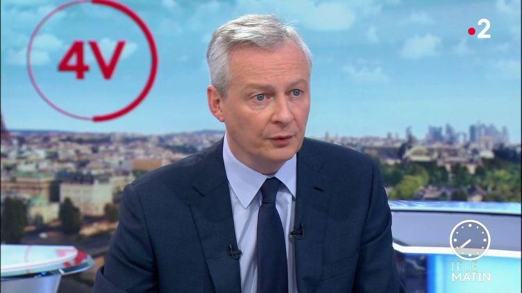 Bruno Le Maire, le ministre de l'Economie et des Finances. (France 2)