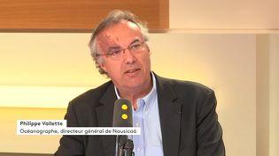 Philippe Vallette, océanographe et directeur général de Nausicaá, le 18 mai 2018 sur franceinfo. (FRANCEINFO / RADIOFRANCE)