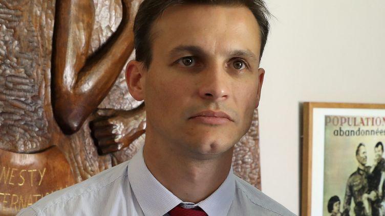 Frédéric Potier, délégué interministériel à la lutte contre le racisme, l'antisémitisme et la haine anti-LGBT (Dilcrah), le 29 août 2018. (ST?PHANE MARC / MAXPPP)