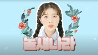 Nara Kang, Nord-Coréeenne passée au Sud, dans une vidéo postée sur sa chaîne YouTube. (CAPTURE D'ÉCRAN)