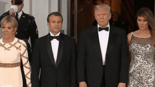 La visite d'État d'Emmanuel Macron aux États-Unis s'est poursuivie avec dîner solennel et fastueux. (France 2)