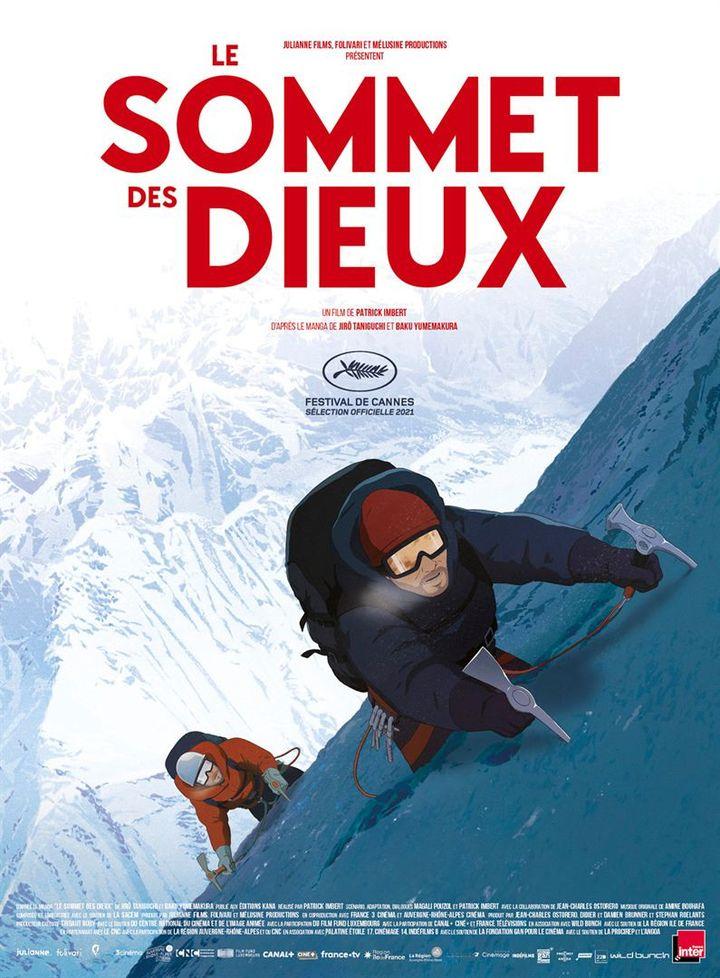 """L'affiche de""""Le Sommet des Dieux""""réalisé par Patrick Imbert, adapté du manga de Jirô Taniguchi et Baku Yumemakura. En salles le 22 août 2021. (ALLOCINE / WILD BUNCH DISTRIBUTION)"""