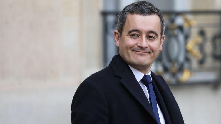 Le ministre de l'Action et des Comptes publics, Gérald Darmanin, quitte le palais de l'Elysée à Paris, le 11 décembre 2019. (LUDOVIC MARIN / AFP)
