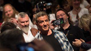 L'acteur américainSylvester Stallone est venu à Cannes pour donner une leçon de cinéma aux festivaliers. (LOIC VENANCE / AFP)