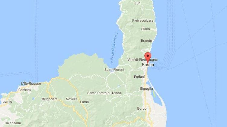 Un homme soupçonné de radicalisation en garde à vue à Bastia, lundi 9 juillet 2018. (GOOGLE MAPS)