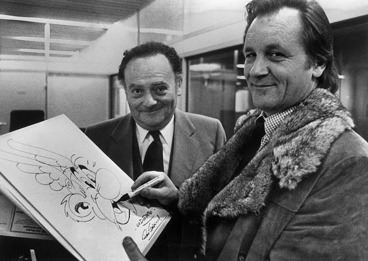 Uderzo et Goscinny dans les années 70 (STAFF / AFP)