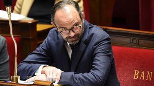 Le Premier ministre Édouard Philippe lors d'une session de questions au gouvernement le 14 février 2018. (BERTRAND GUAY / AFP)