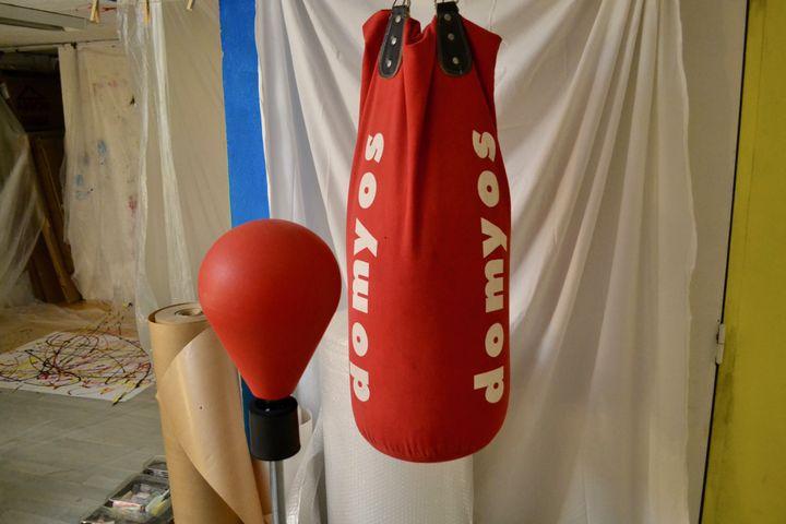 Un punching ball est à disposition, pour libérer la colère. (NOEMIE BONNIN / RADIO FRANCE)
