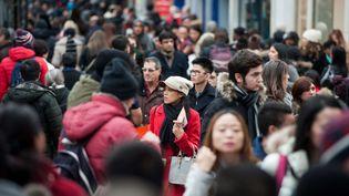La foule dans les rues de Londres, le 26 décembre 2014, jour de soldes du Boxing Day. (DDAA / ZOB / WENN.COM / SIPA )