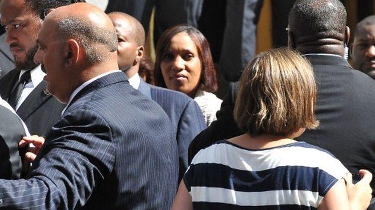 Nafissatou Diallo à son arrivée au bureau du procureur de New York le 22 août 2011 (AFP/NICHOLAS KAMM)
