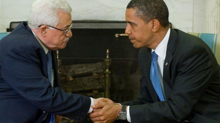 Rencontre Obama-Abbas à la Maison blanche  le 28 mai 2009. (AFP)