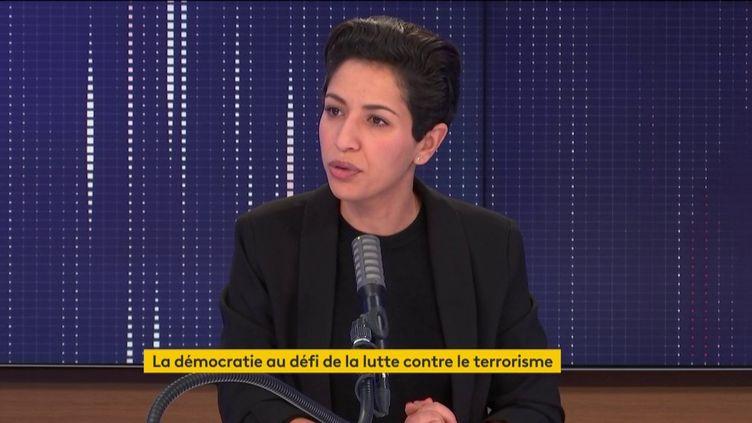 Sarah El Hairy était l'invitée de franceinfo lundi 19 octobre. (FRANCEINFO / RADIOFRANCE)