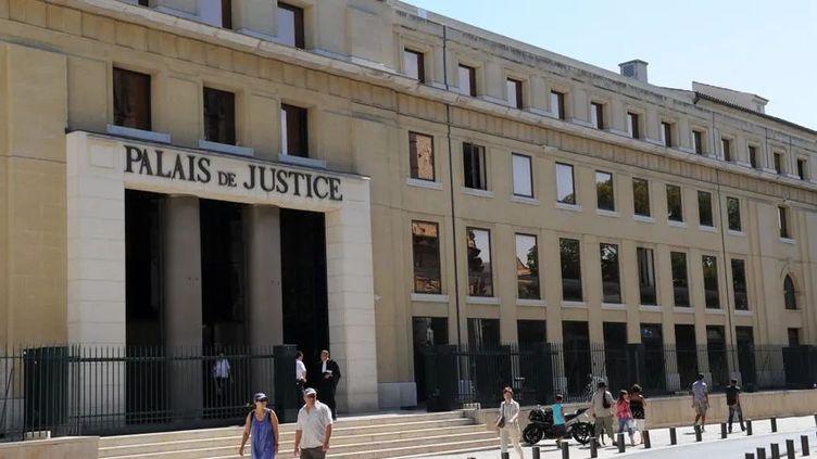 Le tribunal de grande instance de Nîmes dans le Gard. (HERVE SALLAFRANQUE / RADIOFRANCE)