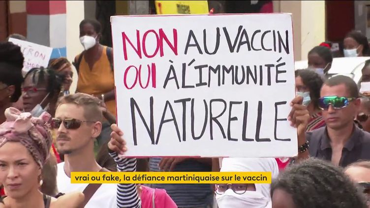 Des Martiniquais opposés auvaccin contre le Covid-19 (FRANCEINFO)