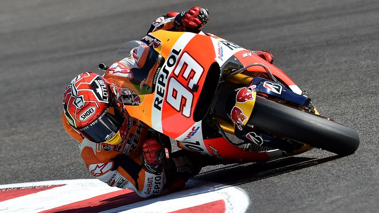L'Espagnol Marc Marquez à nouveau vainqueur cette saison. (ALBERTO PIZZOLI / AFP)