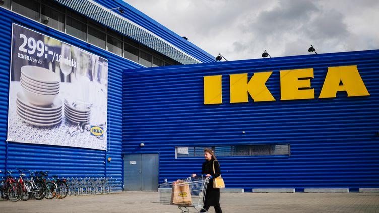 Une grande surface Ikea à Stockholm (Suède). (JONATHAN NACKSTRAND / AFP)