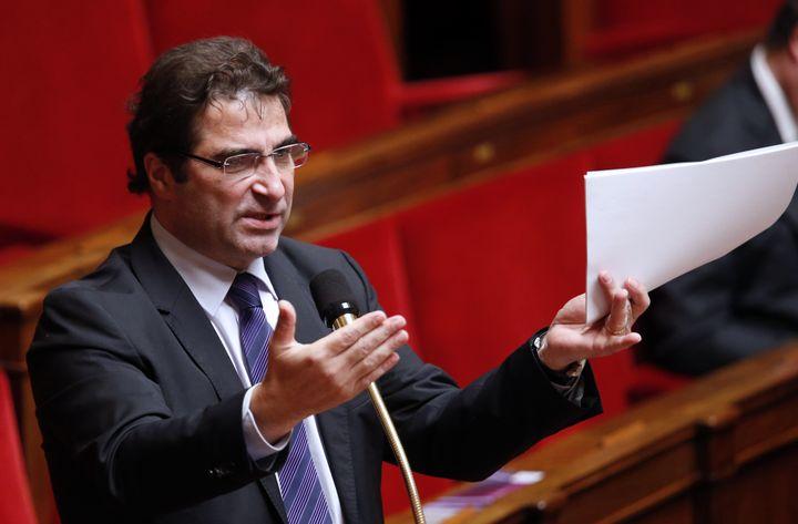 Le chef de file des députés UMP, Christian Jacob, le 7 février 2013 à l'Assemblée nationale, à Paris. (PIERRE VERDY / AFP)