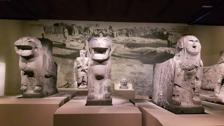 """Exposition """"Royaumes oubliés"""", au musée du Louvre, à Paris. (ANNE CHEPEAU / RADIO FRANCE)"""