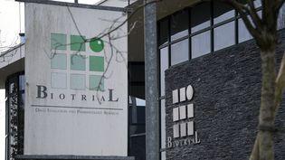 Le siège du laboratoire Biotrial à Rennes (Ille-et-Vilaine), le 15 janvier 2016. (DAMIEN MEYER / AFP)