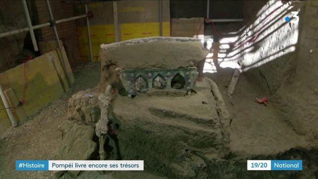 Archéologie : un char romain en excellent état découvert à Pompéi