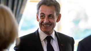 Nicolas Sarkozy au palais de l'Elysée, à Paris, le 6 novembre 2017. (REUTERS)
