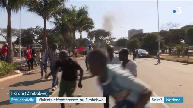 Présidentielle : violents affrontements au Zimbabwe