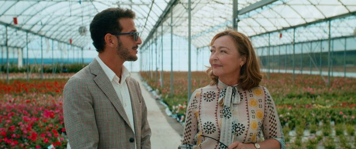 """Vincent Dedienne et Catherine Frot dans """"La fine fleur"""", de Pierre Pinaud (Estrella Productions)"""