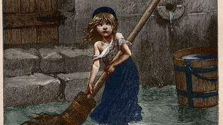 """""""Cosette"""", gravure du XIXe siècle pour"""" Les Misérables"""" de Victor Hugo. (Illustration) (STEFANO BIANCHETTI / CORBIS HISTORICAL VIA GETTY IMAGES)"""