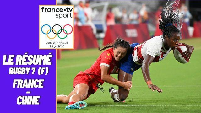 Les Bleues du rugby à 7 n'ont pas tremblé face à la Chine en quart de finale malgré un premier essai chinois, pour s'imposer facilement 24-10 avec quatre essais à la clé, dont un doublé de Séraphine Okemba, et s'offrir une demi-finale face à la Grande-Bretagne.