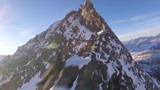 Capture écran de la vidéo Youtube Gab707 des Alpes suisses, jeudi 5 janvier. (GAB707)