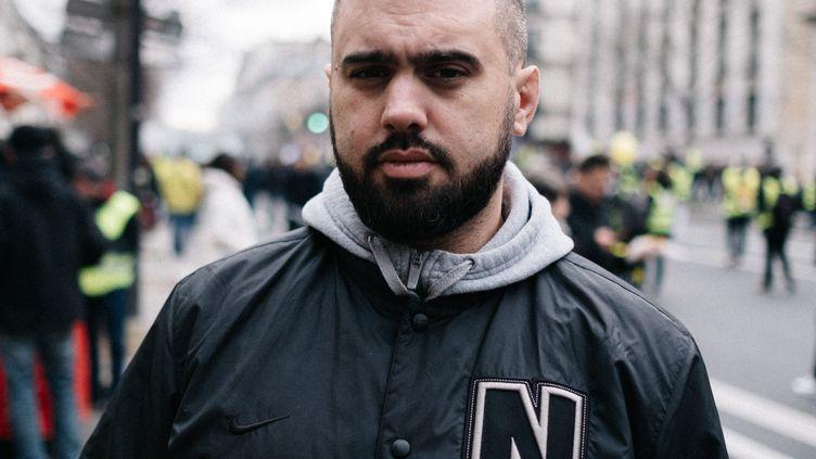 """Le """"gilet jaune"""" Eric Drouet, le 4 janvier 2020 à Paris. (BENOIT DURAND / HANS LUCAS / AFP)"""