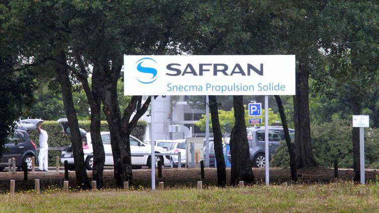 L'entrée du site Safran de Saint-Médard-en-Jalles (Gironde), près de Bordeaux,le 20 juillet 2011. (PATRICK BERNARD / AFP)