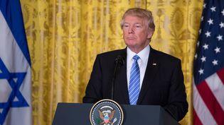 Le président américain Donald Trump accueillaitle premier ministre israëlienBenjamin Netanyahu à la Maison Blanche, le 15 février 2017. (CHERISS MAY / NURPHOTO)